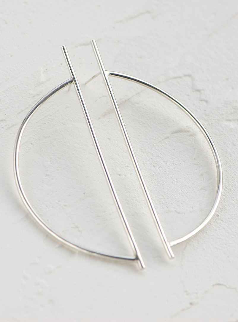 Anne Dahl Silver Silver moon earrings
