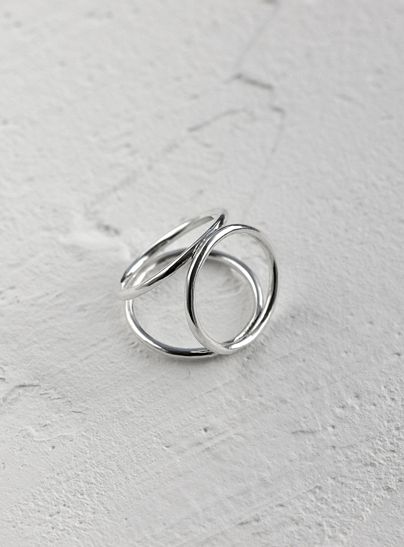 Anne Dahl Silver Open mind ring