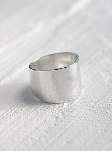 Anne Dahl Silver Wide band ring