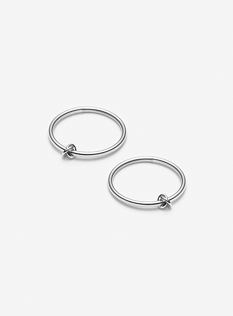 Camillette Assorted White gold Prélude sleeper hoop earrings