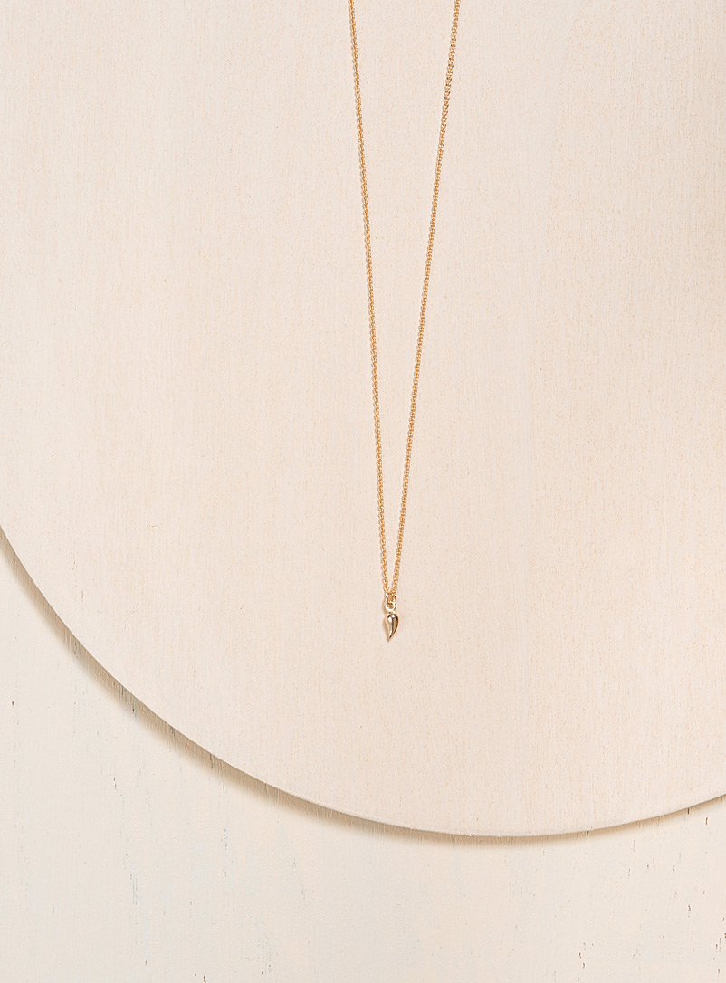 Camillette Gold Solid gold paisley necklace