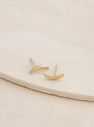 Camillette Gold Gold crescent earrings