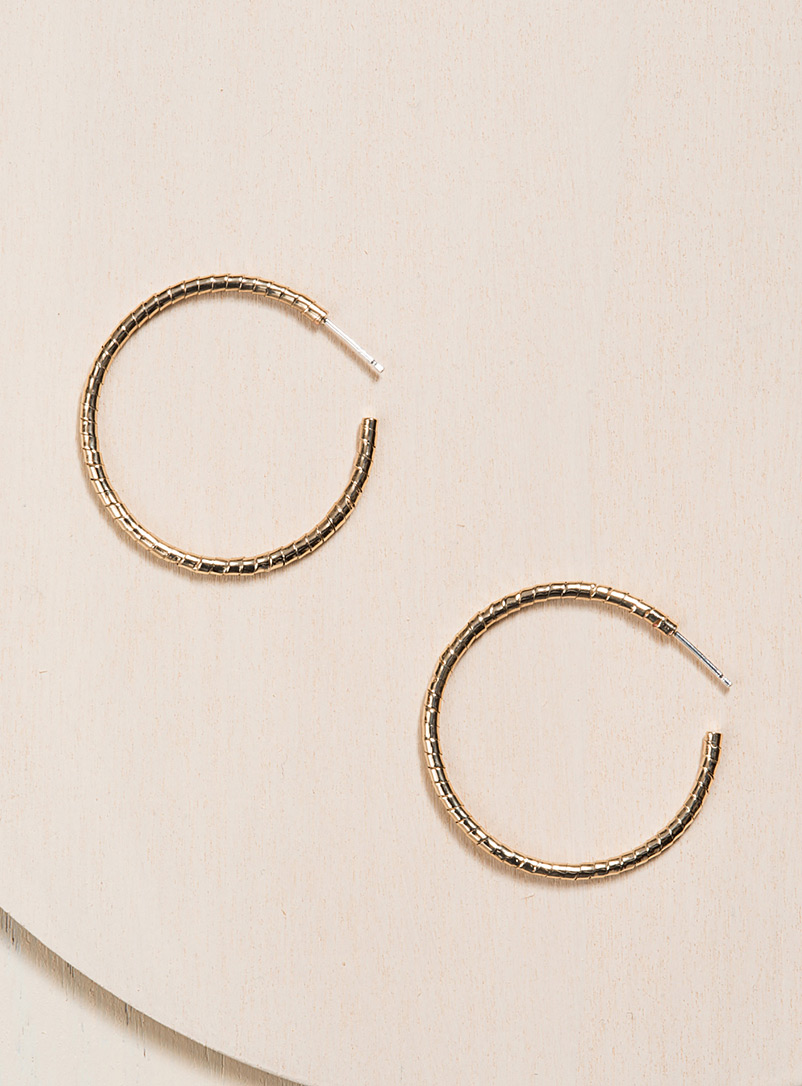 Camillette Assorted Solid bronze large twisted hoops