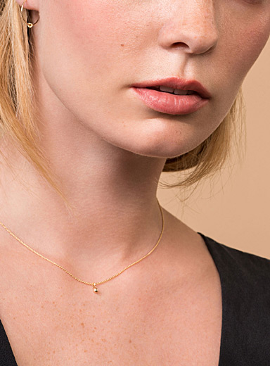Orb gold necklace