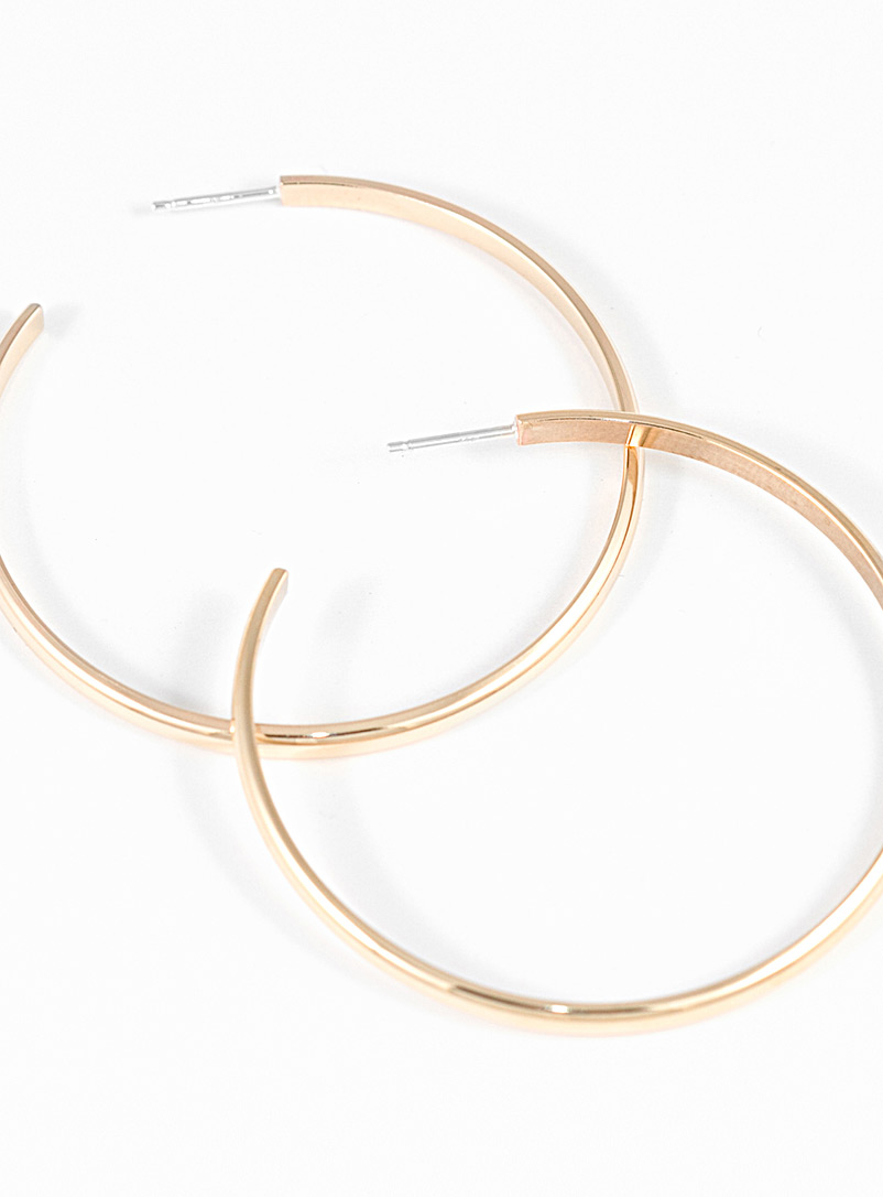 Camillette Assorted Large brass hoops