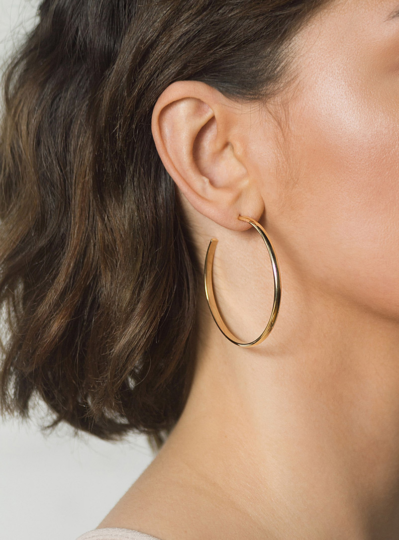 Large brass hoops - Camillette - Assorted
