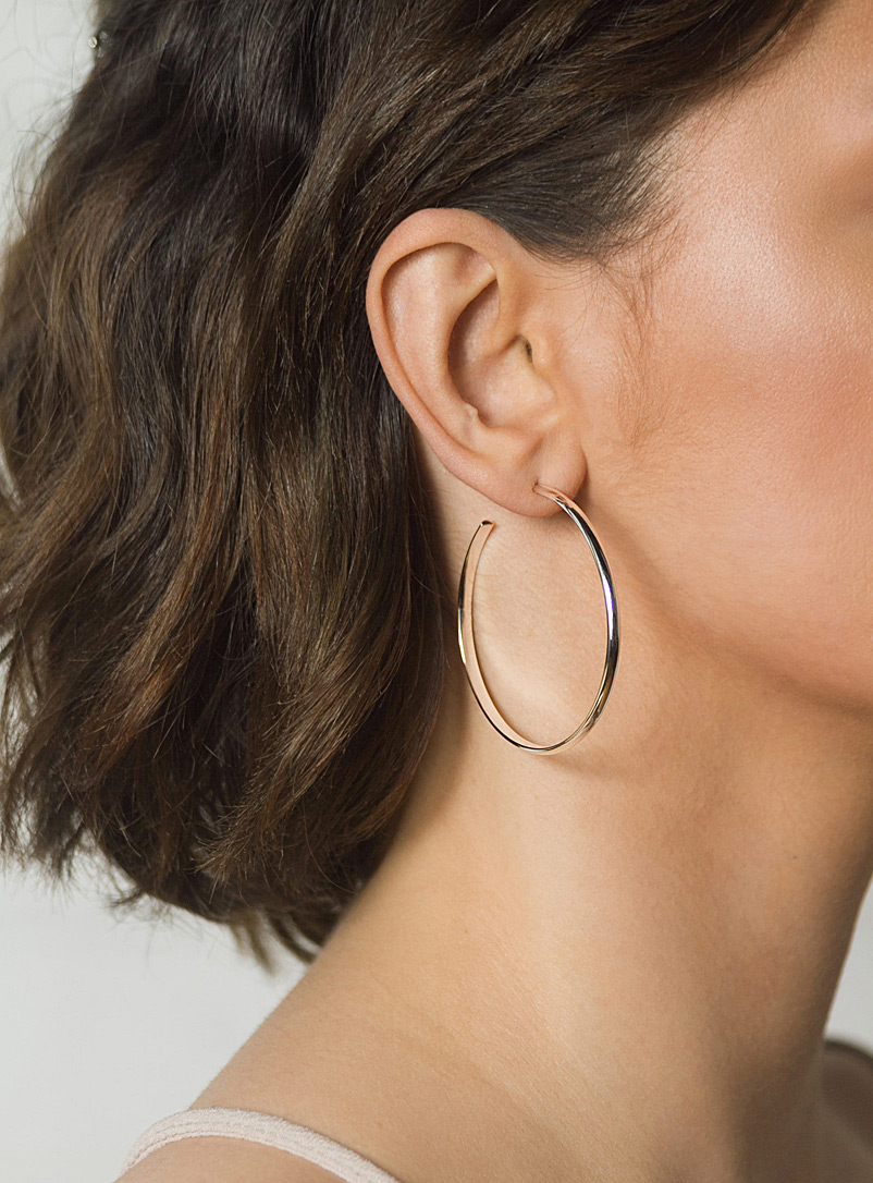 Large silver hoops - Camillette - Silver