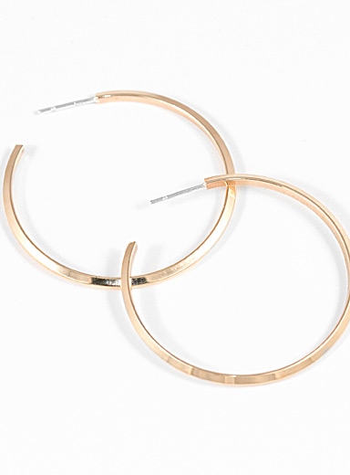 Camillette Assorted Angle brass hoops