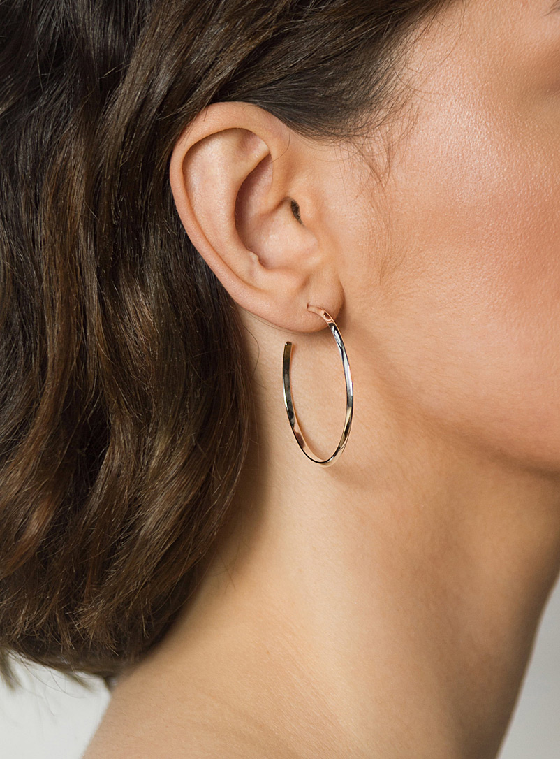 Angle silver hoops - Camillette - Silver