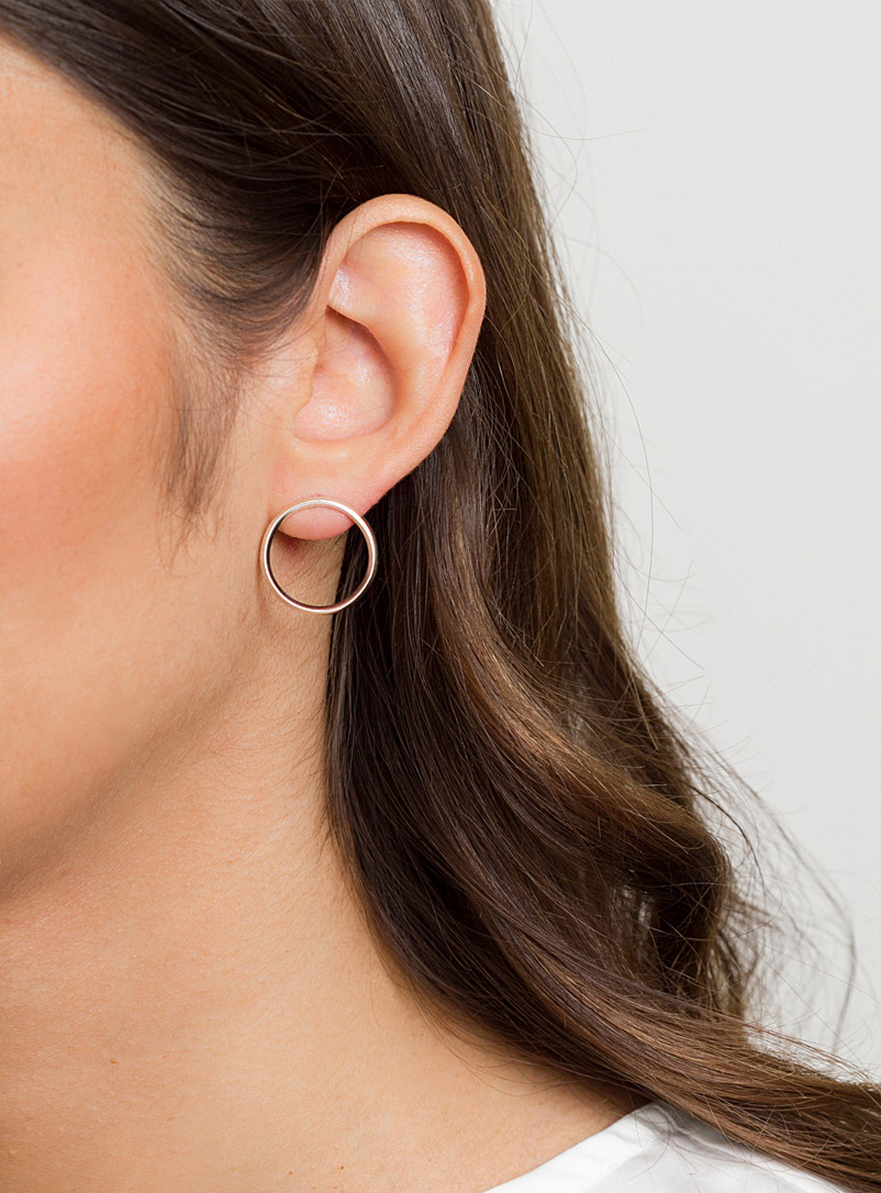 Flat hoop earrings - Camillette - Silver