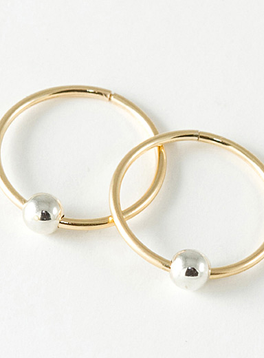 Camillette Assorted Large two-tone sleeper hoop earrings