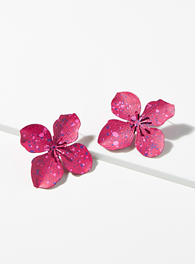 Speckled flower earrings