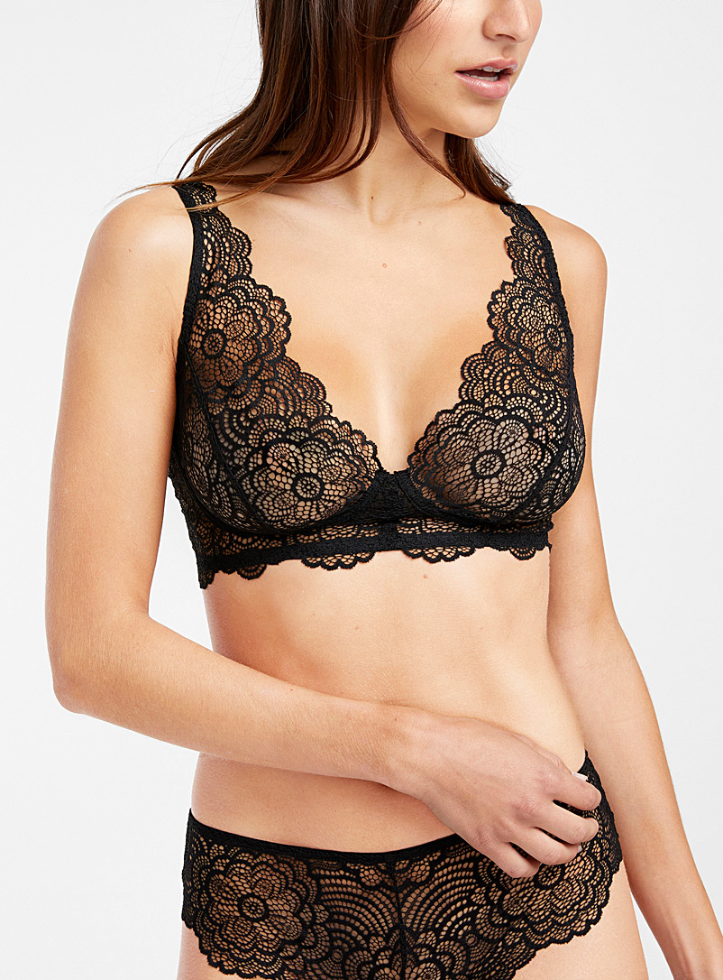 Miiyu Black Céphée lace bralette for women