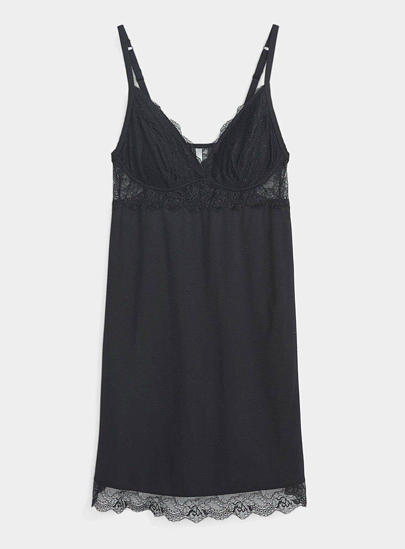 Lace-cup modal nightie