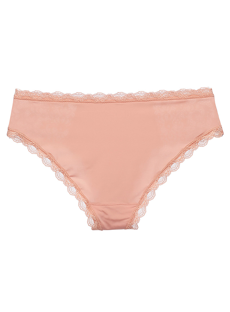 Miiyu Fawn Lace and microfibre hipster for women