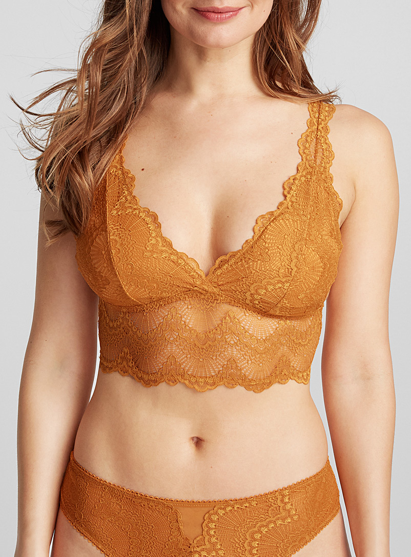 Radiant lace bralette - Bralettes - Dark Yellow