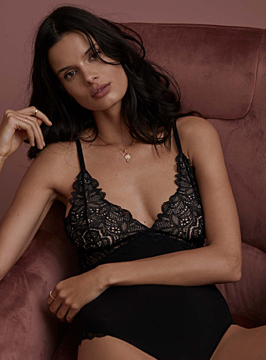 Blossoming lace bodysuit