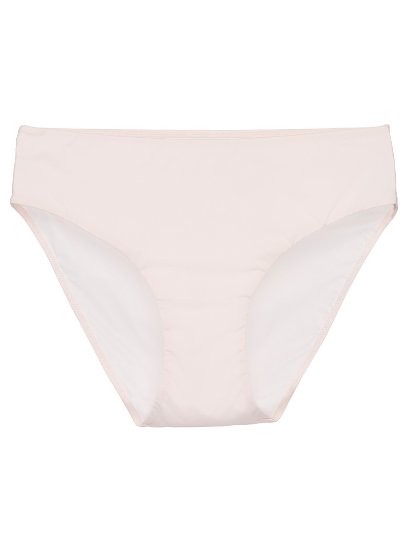 Miiyu Dusky Pink Essential microfibre high-rise bikini panty for women