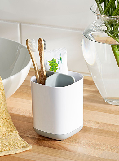 Simons Maison White Small modern toothbrush holder