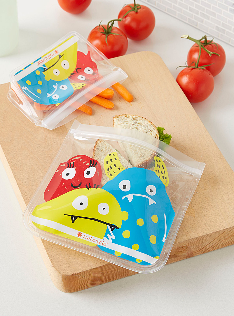 Adorable monster ziptuck EVA bags  Set of 2 - Packed Lunches - Assorted