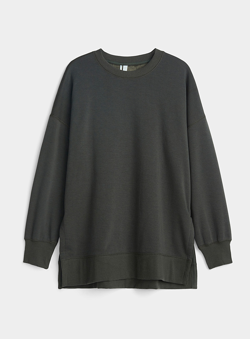 Fleece-lined lounge sweatshirt