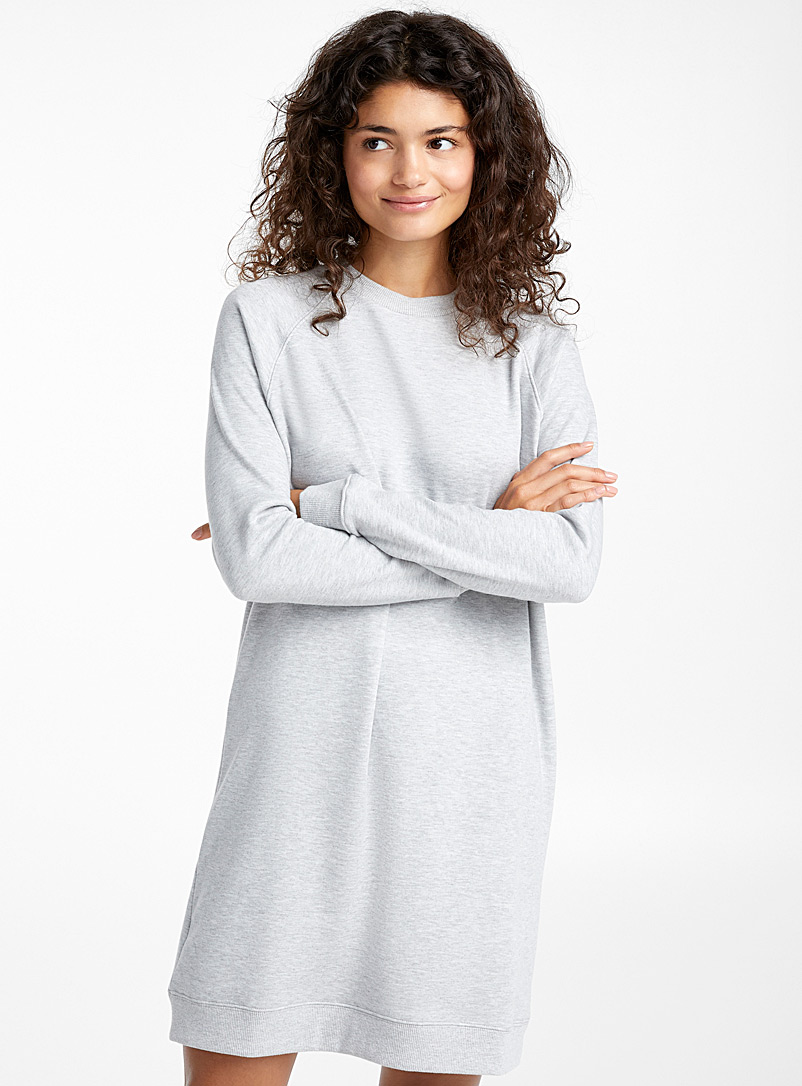 Heathered sweatshirt dress - Nighties & Sleepshirts - Grey
