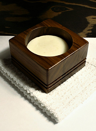 Soap and walnut bowl set