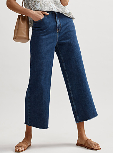 Organic cotton wide-leg jean