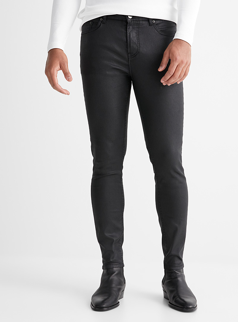 Le 31 Black Coated black jean  Tokyo fit - Skinny for men