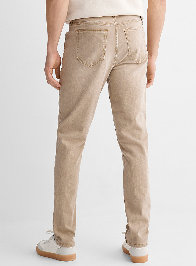 Le 31 Peach Natural-dyed faded colour jean Stockholm fit - Slim for men