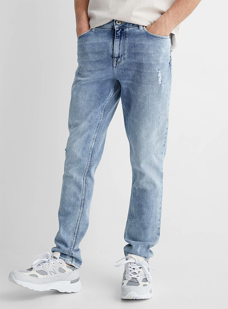Le 31 Blue Faded blue jean Stockholm fit-Slim for men