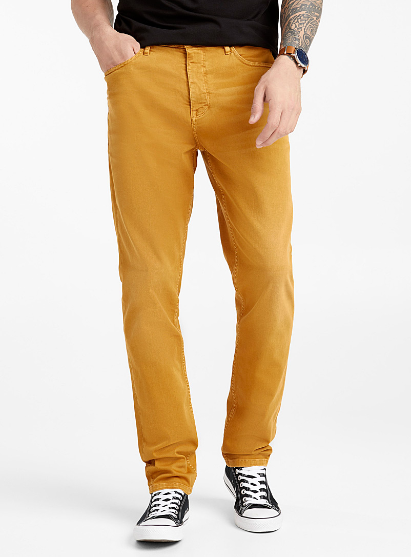 Le 31 Dark Yellow Coloured jean  Stockholm fit-Slim for men