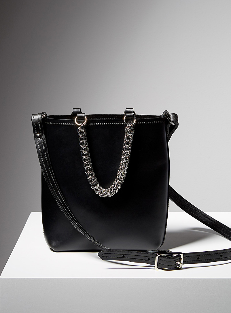 Sonya Lee Black Chain Quarter Yuliana bag
