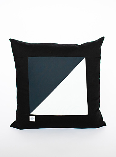 Rox Textile Art Black Night story cushion