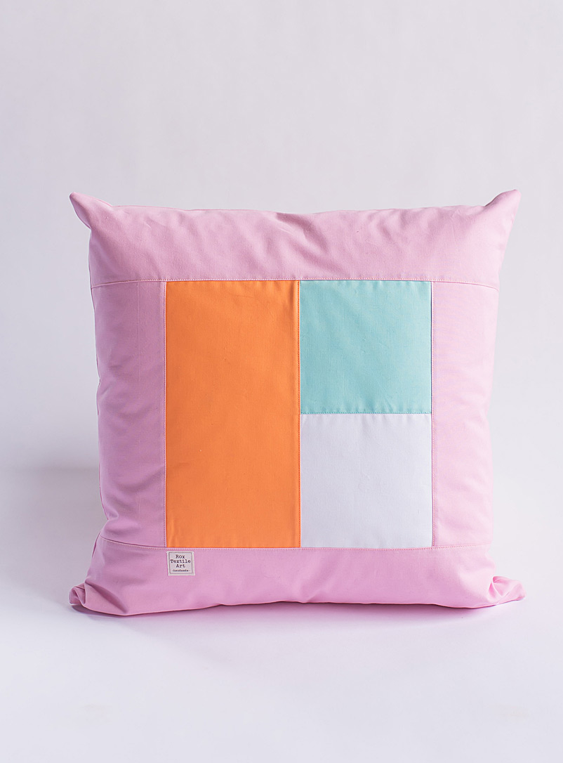 Cubic trio cushion - Rox Textile Art - Pink