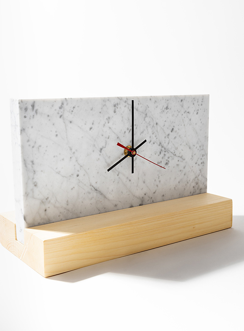 Atelier Bussière White Eternity clock