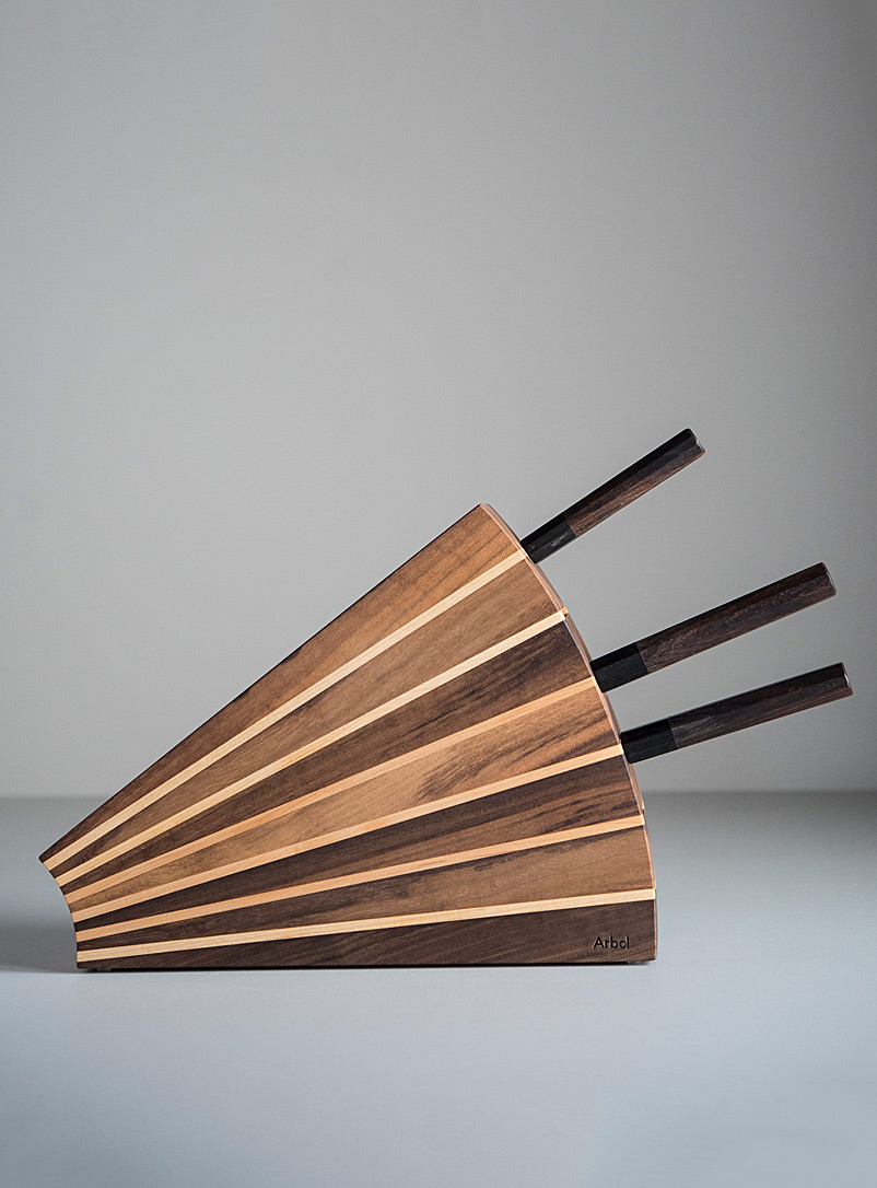 Fan knife block