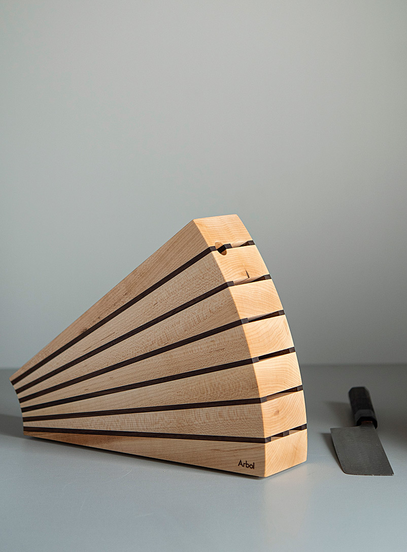 Arbol Cherry tree Fan knife block