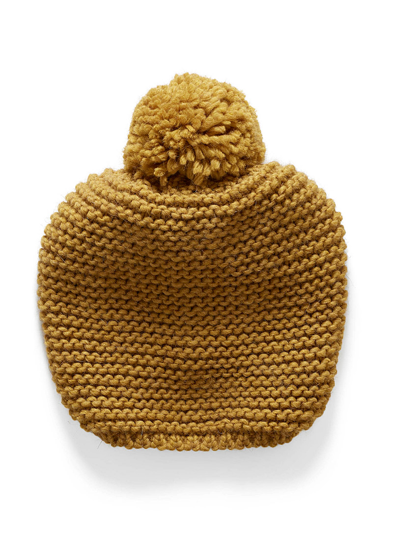 Crochet pompom tuque - Tuques & Berets - Golden Yellow