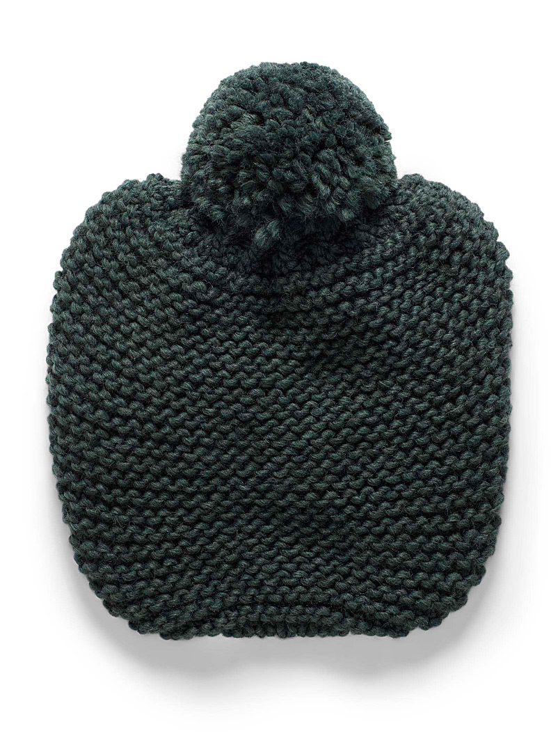 Simons Green Drop pompom tuque for women