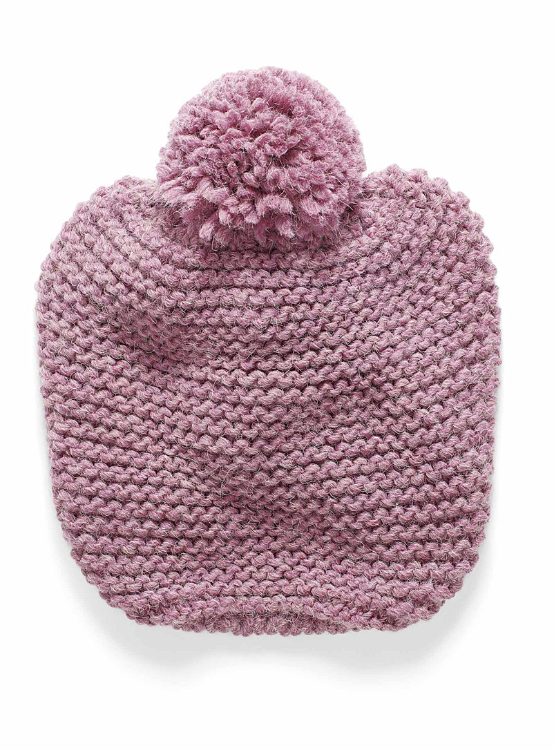 Simons Pink Drop pompom tuque for women