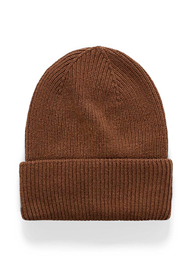 Ribbed rolled-cuff tuque