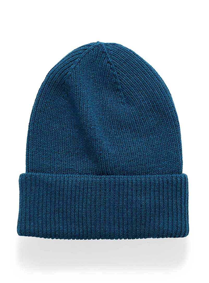 Ribbed roll-up cuff tuque - Tuques - Slate Blue