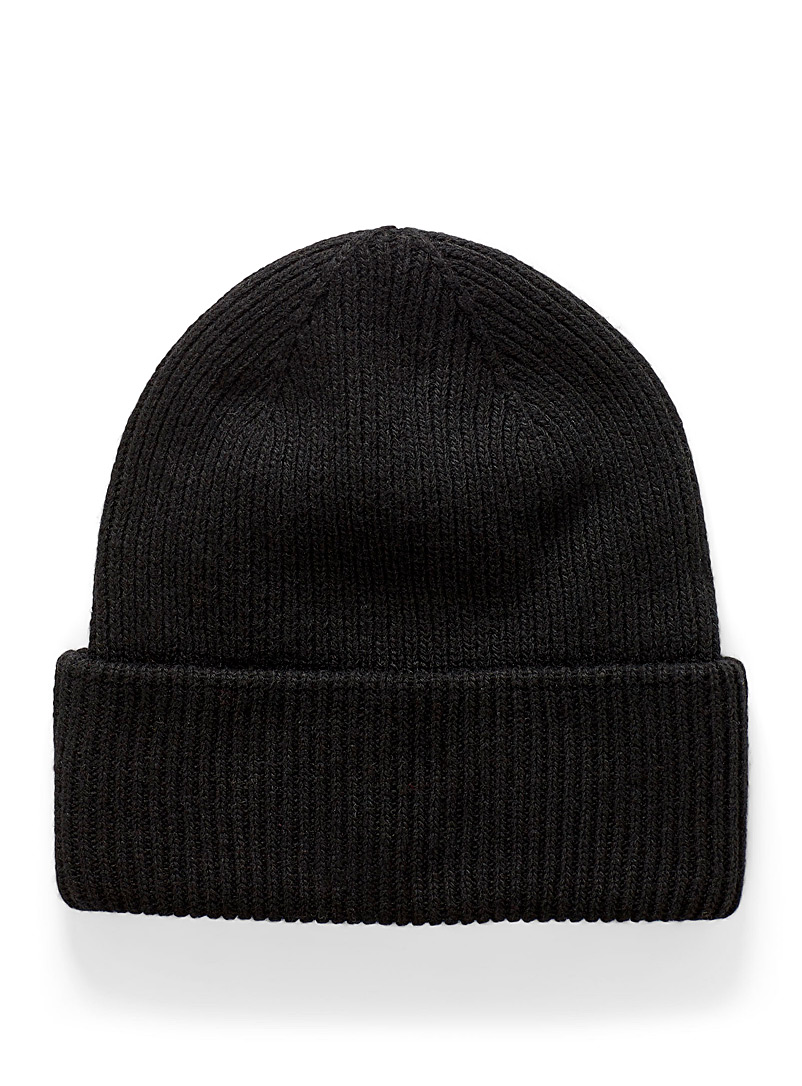 Ribbed double-cuff tuque