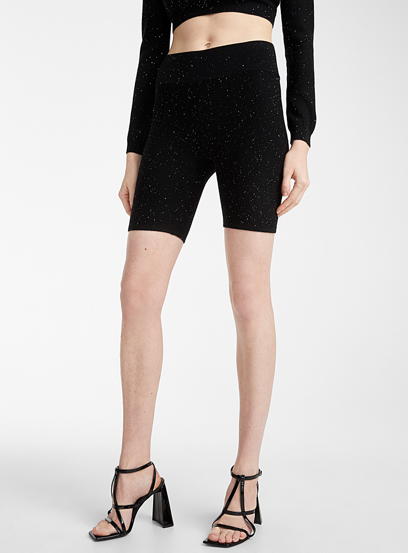 Area Black Knit bike short for women