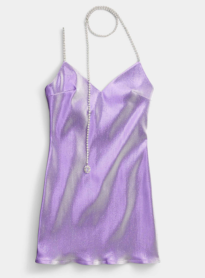 Area Purple Jewel-strap dress for women