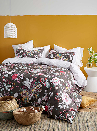 Midnight garden duvet cover set