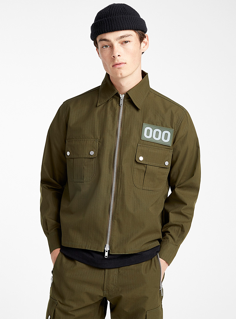 Military style jacket - 000 - Mossy Green