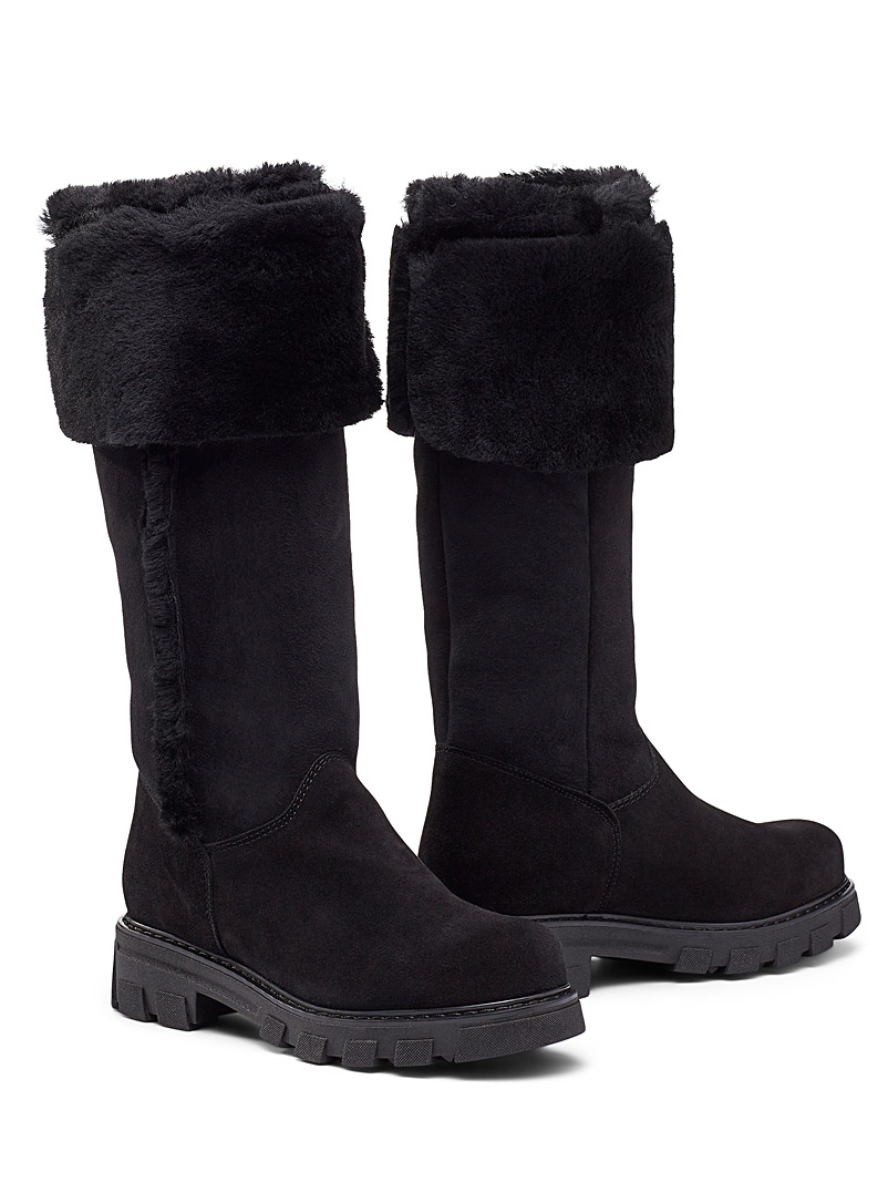 La Canadienne Black Tamy knee-high boot for women