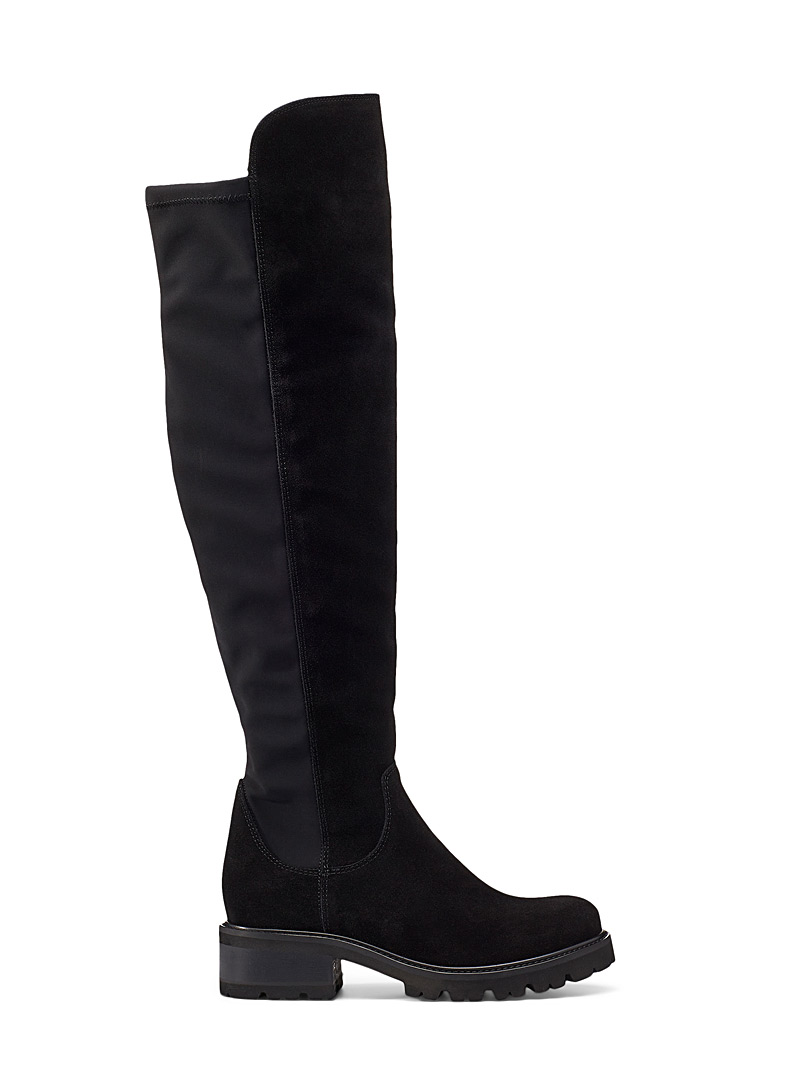 La Canadienne Black Catherine knee-high boot for women